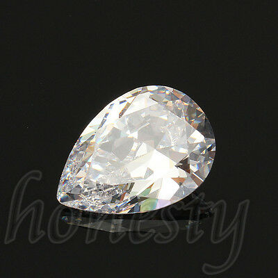 1PC 13x18MM Attractive White Sapphire Pear Cut Lustrous Loose Gemstone Gem