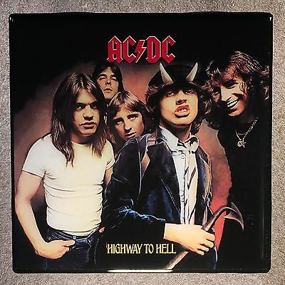 AC/DC Highway To Hell Coaster Ceramic Tile Record Cover