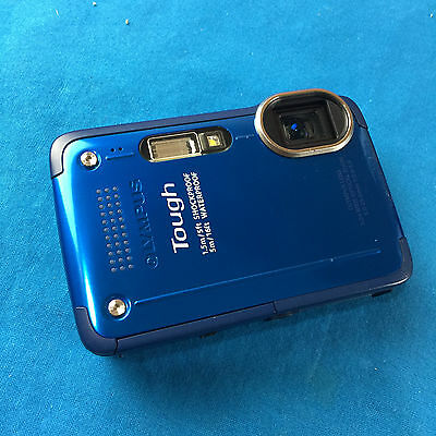 Olympus Tough TG-630 12MP iHS Digital Camera Blue *For Parts Not Working*