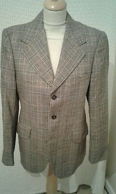 1970s Blazer suit jacket big lapelled chest 38' true vintage by foster menswear