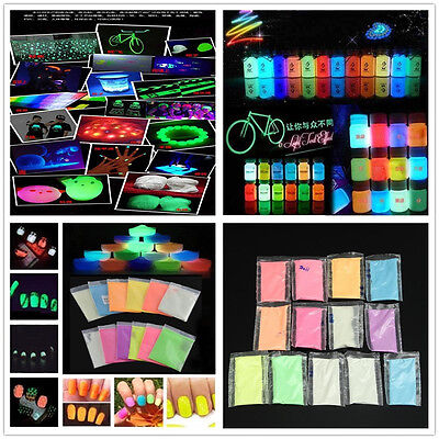 Glow in the Dark Luminous Paint Bright Pigment  Decoration DIY Party New Stylish