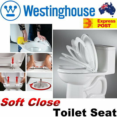 NEW Westinghouse Soft Close Toilet Seat - Easy Clean Quick Release -Express Post