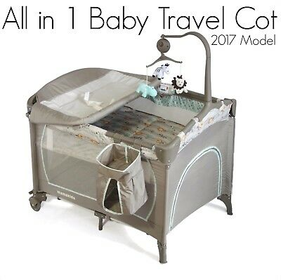 BRAND NEW ALL in 1 Blue Baby & Toddler Travel Cot Portable Foldable Playpen