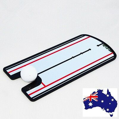 Golf Putting Mirror Training Posture Eyeline Alignment Practice Aid Guide