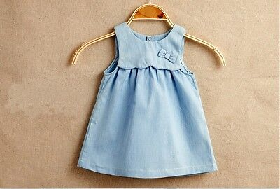 NEW Baby Girl Sleeveless Denim Boutique Summer Dress size 18m or 3