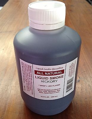All Natural Hickory Liquid Smoke Concentrate 500ml BBQ flavouring GLUTEN FREE