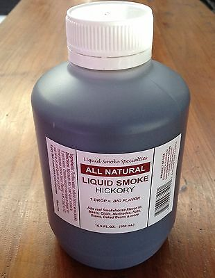 All Natural Hickory Liquid Smoke Concentrate 500ml