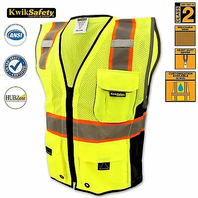 Reflective Safety Zip Vest High Visibility Waistcoat with Pockets , Jacket, S/M