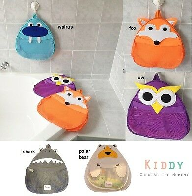 NEW Kids Bath Storage Organizer Toy Hanging Mesh Bag *Fox Walrus Owl