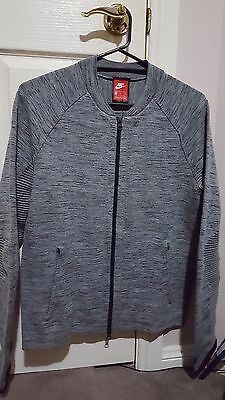 BNWT Men's Nike Tech Knit Jacket Sz Sml Carbon Heather/Black/Cool Grey/Black