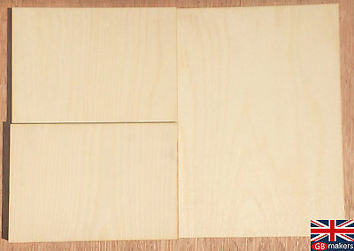 Birch Plywood Ply Premium Sheet A5 A4 A3 4mm 6mm Wooden Wood Board Paper Size