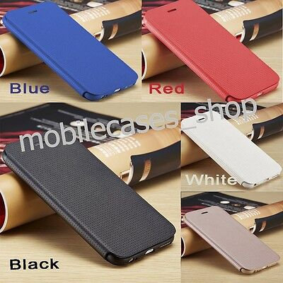 New Genuine SLIM PU Leather Flip Case Wallet Cover For Apple iPhone models