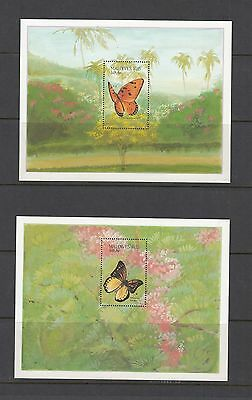 BUTTERFLIES - Maldives - 1987 sheets of 1- (SC 1266-7 )- MNH -B658