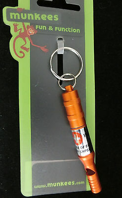 Munkees fun & function: emergency whistle - Notpfallpfeife, Farbe: orange #1476