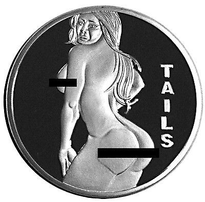 Sexy Stripper Pin Up Heads Tails Challenge Coin Great Gift for Man, Groomsmen