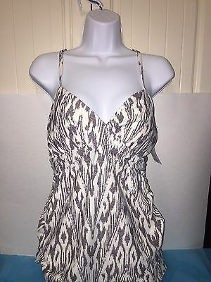 Liz Lange Maternity Swim Suit Tankini Top MEDIUM New with Tags see pictures