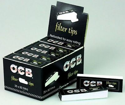 Ocb Perforated Filter Tips Roaches Roach Cardboard Smoking Genuine