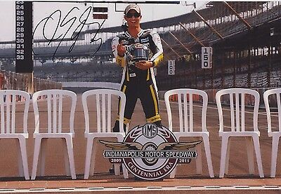 COLIN EDWARDS AUTHENTIC HAND SIGNED 12x8 PHOTO INDIANAPOLIS