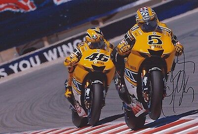 COLIN EDWARDS AUTHENTIC HAND SIGNED 12x8 PHOTO ROSSI