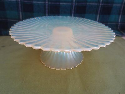 EAPG Colored Tort Stand - Unusual Opalescent Yellowish Hue's - No UV Glow