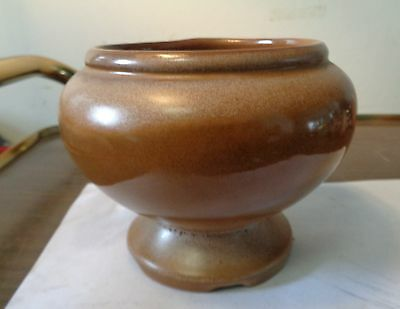 "Frankoma Pottery Brown  22A - 5"" Pedistal Vase/Planter"