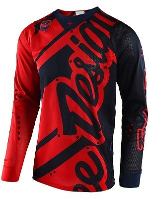 Troy Lee Designs MX Trikot 2018 SE Air Shadow Rot-dunkelblau