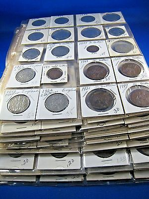 LOT OF 200 USED COINS FROM GREAT BRITAIN FROM 1900 TO 1980     (sk)