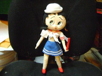 Betty Boop Sailor Plush With American Flag 16""