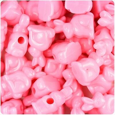 5 x 24mm Dark Pink Rabbit Pony Beads IDEAL FOR DUMMY CLIPS