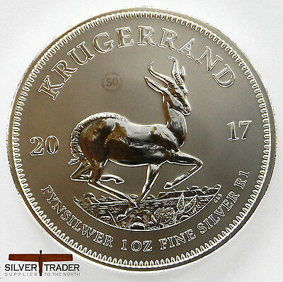 2017 1oz South African Krugerrand prem 1 ounce Silver Bullion Coin unc: