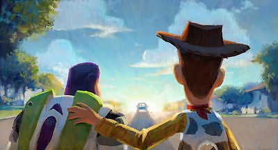 "Toy Story - Buzz & Woody Painting (11"" x 17"") Collector's Poster Print - B2G1F"