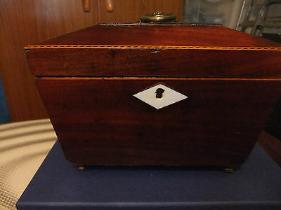 Antique Victorian Mahogany Tea Caddy