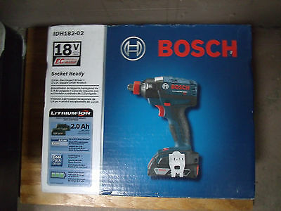 NEW Bosch 18V Li-Ion Brushless Impact Driver Kit  IDH182-02