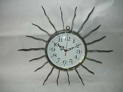 Wall clock wrought iron RAYS SUNBURST SUN