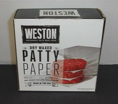 """NEW Weston Dry Waxed Patty Paper 1000 Sheets (5.5"""") #4807"""