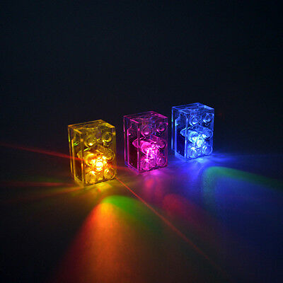 5 x LED LUNAR LIGHTS compatible with Lego Bricks Multi coloured FREE AXLE!!!