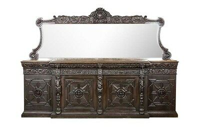 Huge Antique Sideboard | Oak Credenza | Victorian Carved Oak Sideboard | B540