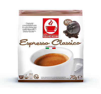Dolce Gusto Compatible Coffee Pods Capsules 10 Pack. CLASSICO: Strength: 6/10