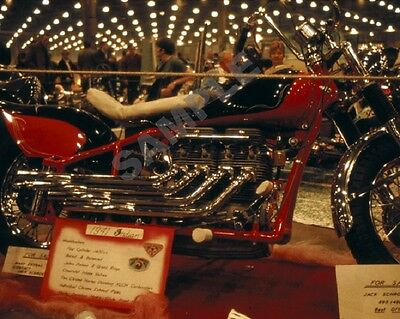 "1941 Indian Custom Motorcycle at a 1968 Hot Rod Car Show 8""x 10"" Photo 6"