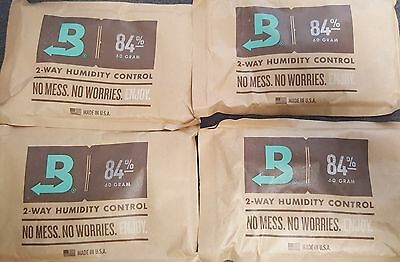 (4) Boveda 84% Packs 2-Way Humidor Control Large 60 gram Sealed Packets