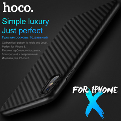 For Apple iPhone X iPhone 7 Slim Carbon Fiber Texture Soft TPU Rubber Case Cover