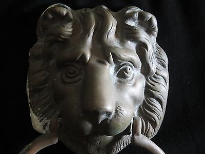 Vintage Bronze Lion Head Door Knocker