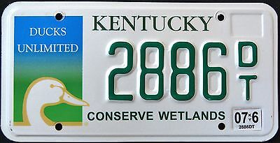 "KENTUCKY "" CONSERVE WETLAND - WILDLIFE DUCK "" KY Grasphic License Plate"