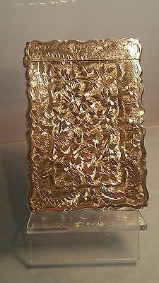 Victorian Silver card case by george Unite