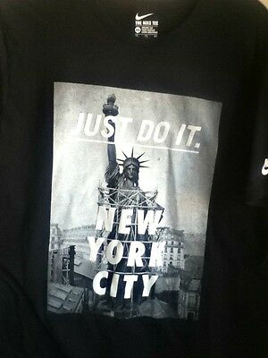 AUTHENTIC NIKE NEW York City Statue Of Liberty Black T Shirt 914292 ... 6cb70ae112ab