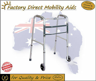 Folding Walking frame / Zimmer Free Wheels Value Free Freight New