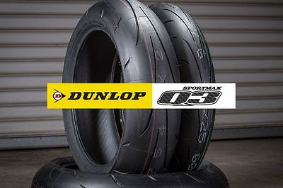 Dunlop Q3 120/70-17 + 180/55-17 *free Post* Motorcycle Tyres
