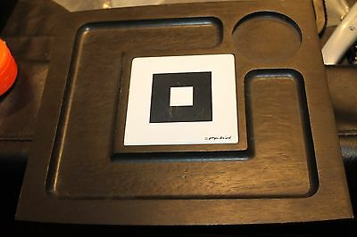 Georges Briard Black Wood Serving Platter Lot of 2  w Ceramic Tile White signed