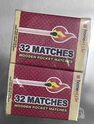 Homestyle Essentials Wooden Matches 30 Boxes - 32 Count Per Box (960 Pieces)
