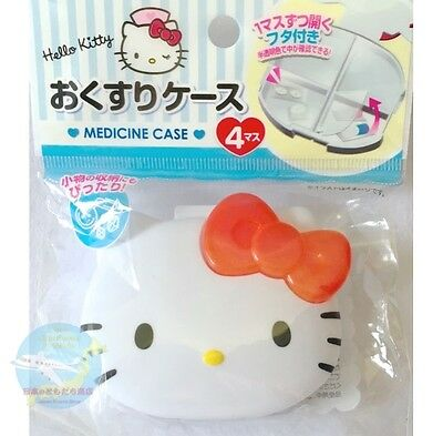 SANRIO HELLO KITTY KAWAII Resin Anime Medicine Small Accessory Case Partition